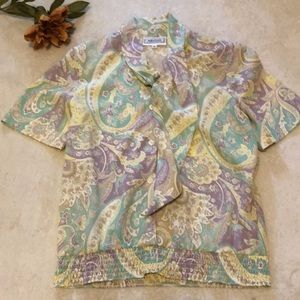 Vintage 80's Adeline by Alfred Dunner blouse